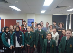 Local year twelve students met third and fourth year medical students to discuss how to begin studying medicine.